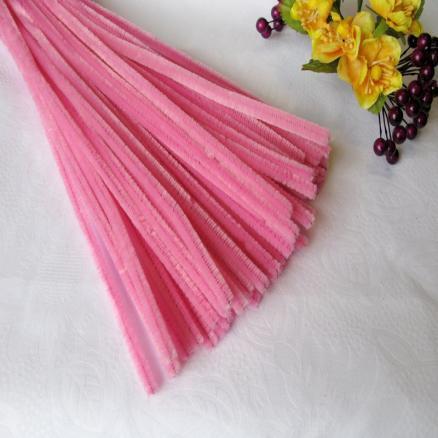 Синельная проволока 30 см розовая