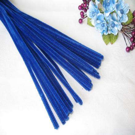 Синельная проволока 30 см синяя