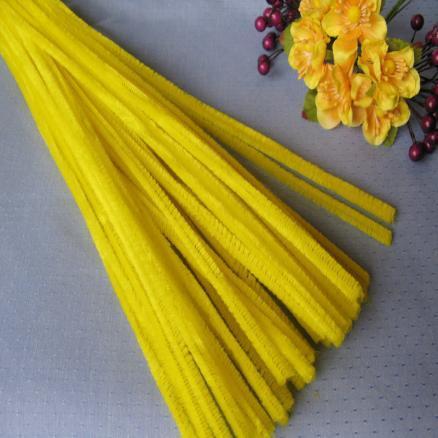 Синельная проволока 30 см жёлтая