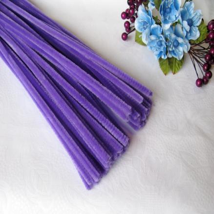 Синельная проволока 30 см фиолет