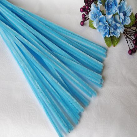 Синельная проволока 30 см голубая