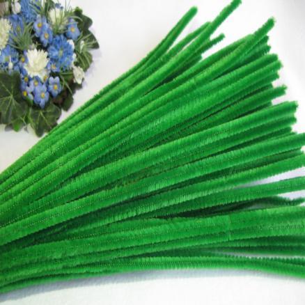 Фото Проволока синельная ,бижутерная, флористическая Синельная проволока 30 см зеленая