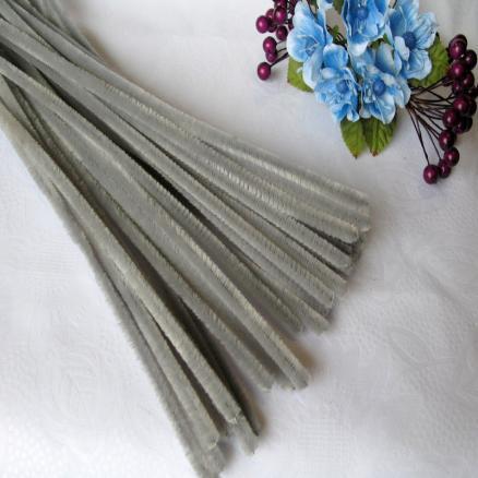 Синельная проволока серая 30 см упаковка 10 штук