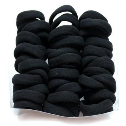 Резинка для волос бесшовная ,чёрная турецкая 4см