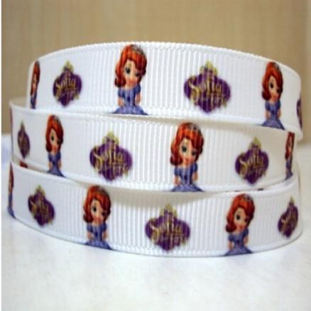 Фото Ленты, Ленты  VIP  класса. Лента репсовая 0.9 см. VIP  цвет белый с рисунком  София.