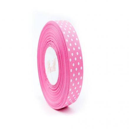 Фото Ленты, Лента репсовая с рисунком Лента репсовая в горох 2.5 мм  розовый