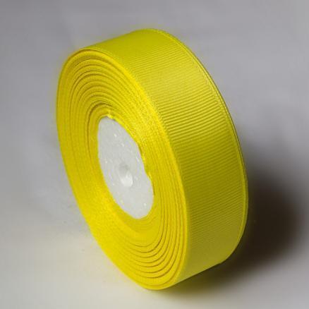 Фото Ленты, Лента репсовая  2 и 2.5 см Лента  Репсовая  2,5  см. Цвет желтый