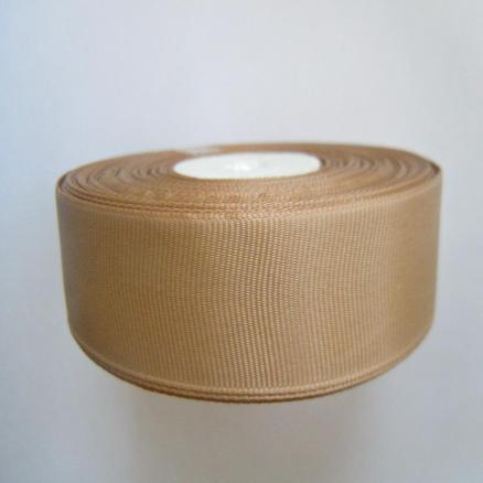 Репсовая лента , ширина 2,5 см , цвет  светло - коричневый