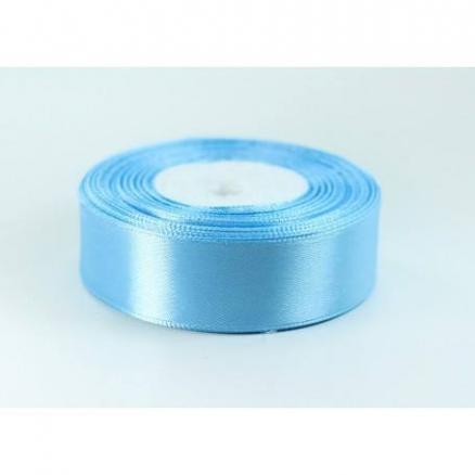 Атласная лента  2,5 см , цвет голубой