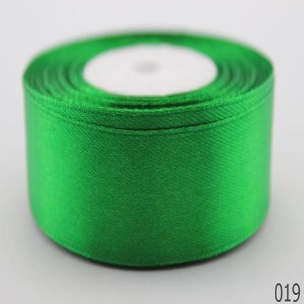 Фото Ленты, Лента атласная однотонная 2,5 см и с люрексом Атласная лента 2.5 см,цвет зелёный