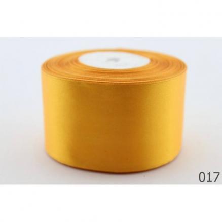 Лента атласная 4 см , цвет ярко-желтый