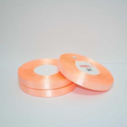 Фото Ленты, Лента атласная  однотонная 0,6-12мм Лента атласная 0,6 см.  цвет персиковый.  Бобина  23  метра.