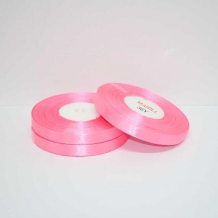 Лента атласная 0,6 см. цвет ярко-розовый