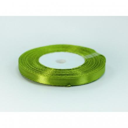 Фото Ленты, Лента атласная  однотонная 0,6-12мм Лента  атласная  0,6 см.  цвет оливковый.  Бобина  23 метра.