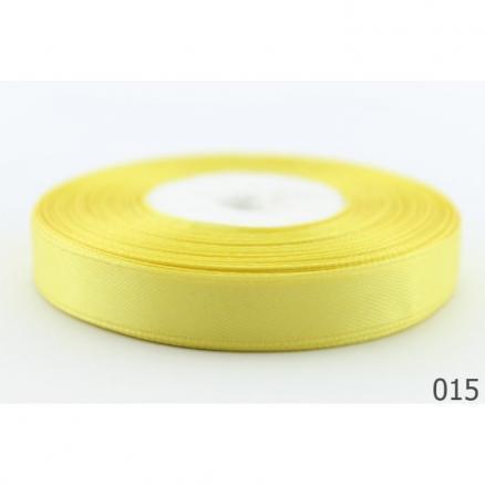 Фото Ленты, Лента атласная  однотонная 0,6-12мм Лента  атласная  12 мм,  цвет  Жёлтый.   Бобина  23  метра.