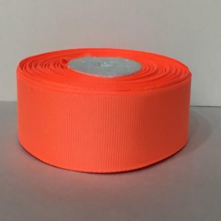 Фото Ленты Лента 2.5 см репс неоново-оранжевый