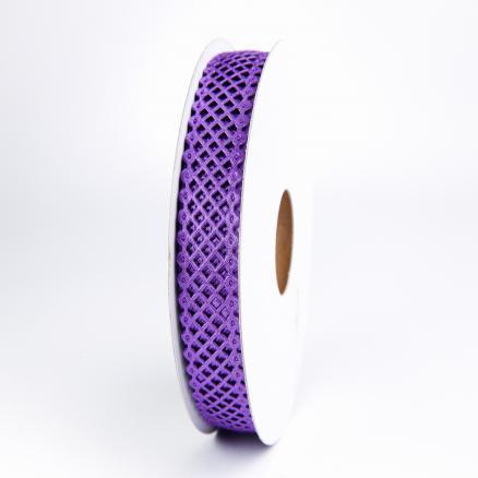 Кружево - сетка,  цвет  фиолетовый, ширина  22 мм.