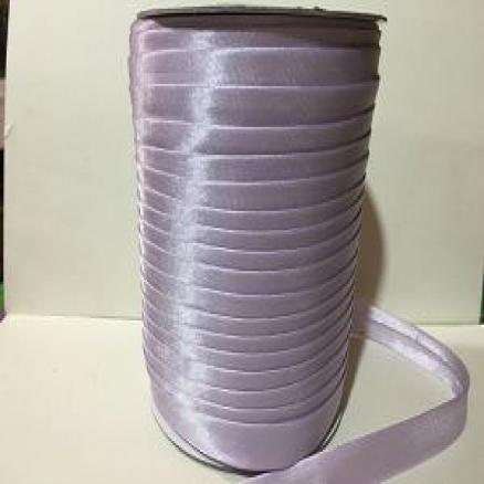 Фото Кружево ,тесьма ,сетка,резинка Косая бейка ,атлас,цвет светло- сиреневый ,ширина  15 мм.