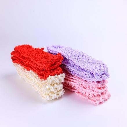 Повязки  ажурные  цветные  4 см .  упаковка  12 шт.