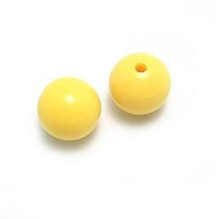 Фото Бусины ,полубусины ,стразы,.цветок.шина, тесьма пластик, Бусины  разные Бусины  керамические , глянцевые   жёлтые  8 мм.