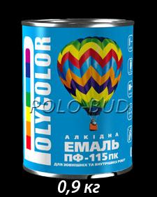 Эмаль черная ПФ-115 «Polycolor»; 0,9кг
