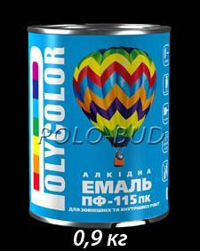 Фото ЗАЩИТА ДЕРЕВА/МЕТАЛЛА, эмаль ПФ-115 Эмаль черная ПФ-115 «Polycolor»; 0,9кг