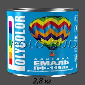 Фото ЗАЩИТА ДЕРЕВА/МЕТАЛЛА, эмаль ПФ-115 Эмаль темно-серая ПФ-115 «Polycolor»; 2,8кг