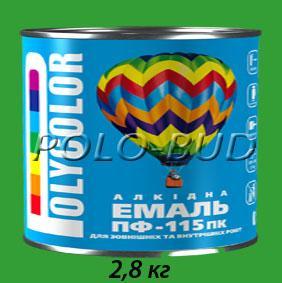 Фото ЗАЩИТА ДЕРЕВА/МЕТАЛЛА, эмаль ПФ-115 Эмаль зеленая ПФ-115 «Polycolor»; 2,8кг