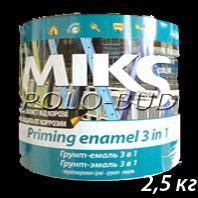 ГРУНТ-ЭМАЛЬ (3 в 1) черная «Miks»; 2,5  кг