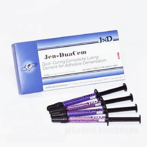 Фото Для стоматологических клиник, Материалы, Цементы Jen-DuaCem (Джем-Дуацем), композитный цемент 4х2г Jendental
