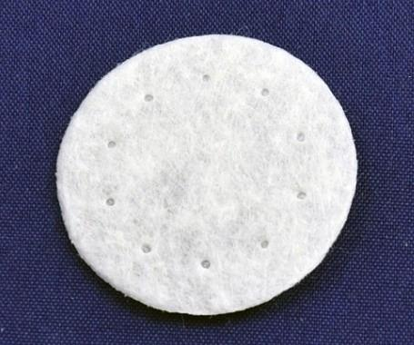 Фото Фетр и фетровые кружочки Фетровый  кружочек  Белый  3 см.  Упаковка  50 шт.