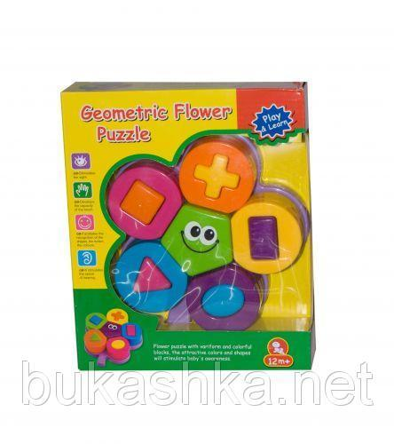 """Развивающая игрушка """"Геометрический цветочный пазл"""""""