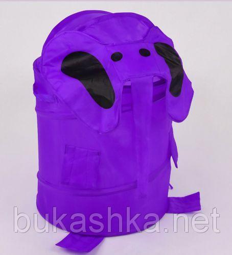 """Корзина для игрушек фиолетовая """"Слоник"""" 38х65см"""