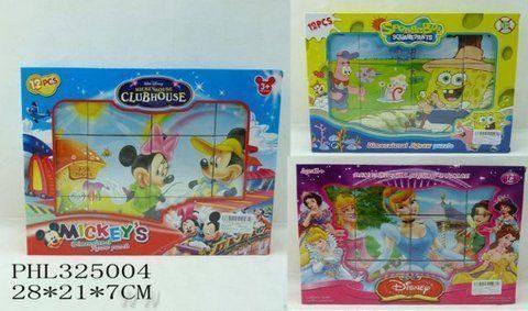 "Кубики ""Mickey Mouse""/""Sponge Bob""/""Принцессы"""