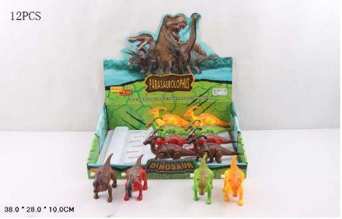 Заводная игрушка 66002 (18шт) Динозавр 4 вида, в кор. 38*28*10см