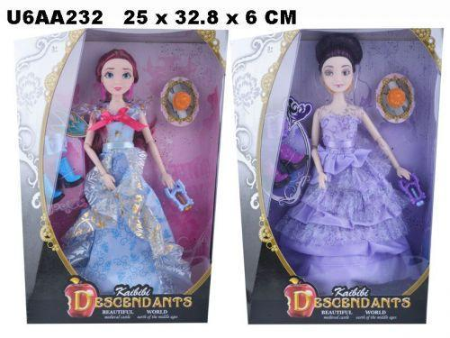 "Кукла 30см BLD032-1 ""Descendants"" с аксес.2в.кор.25*6*33 ш.к./72/"