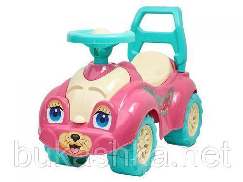 Машинка-каталка для прогулок (розовая)