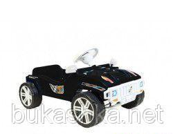Машинка для катания педальная, черная