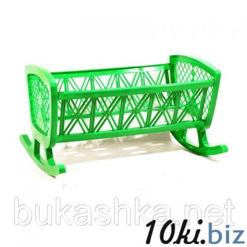 """Игрушка """"Кроватка"""", зеленая Игрушечная мебель, мебель для кукол в Украине"""