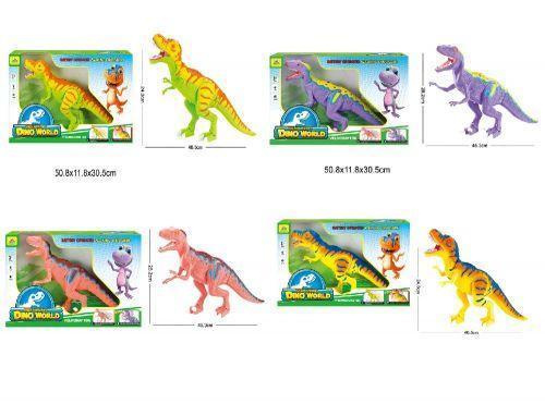 """Животные """"Планета Динозавров"""" RS6163AB/4AB (16шт/2) 2 вида, звук,  в короб. 50,8*11,8*30,5см"""