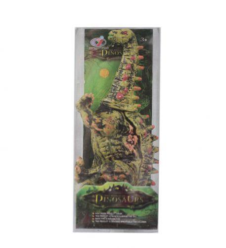 """Игрушка """"Динозавр"""" зеленый с красными шипами"""