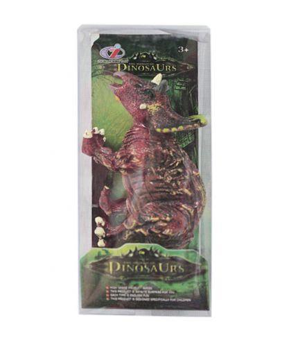 """Игрушка """"Динозавр"""" коричневый с рогами"""