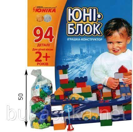 """Конструктор """"ЮНИ-блок"""" (94 детали)"""