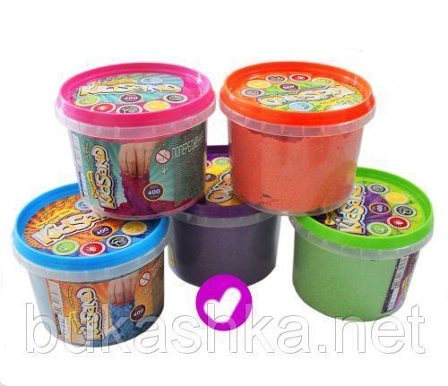 """Кинетический песок """"KidSand"""", фиолетовый, 400г"""