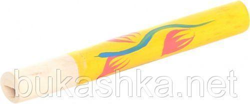 Сопилка с росписью (желтая), 16 см