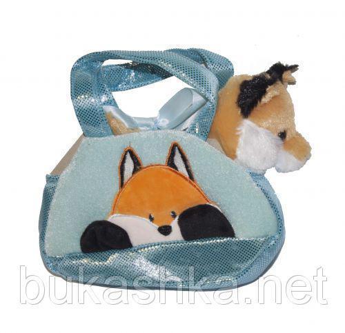 "Мягкая игрушка ""Лисичка в сумочке"""