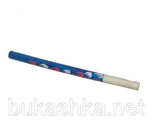 Сопилка с росписью (синяя), 32 см