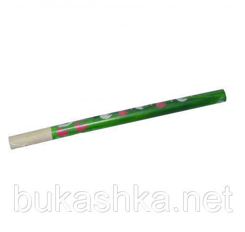 Сопилка с росписью (зеленый), 32 см