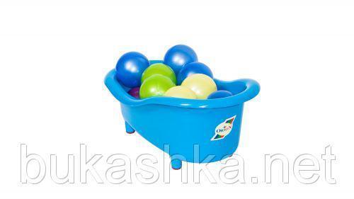 Ванночка с шариками, большая (синяя)