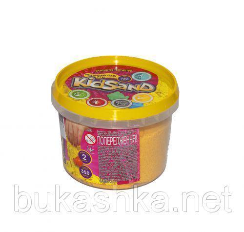 "Кинетический песок ""KidSand"", желтый, 350 г"